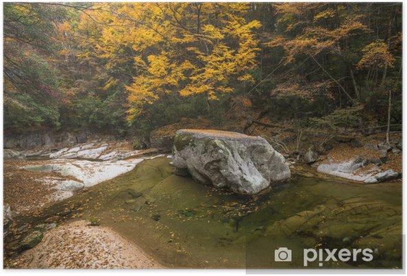Plakat Jesień - Krajobraz wiejski