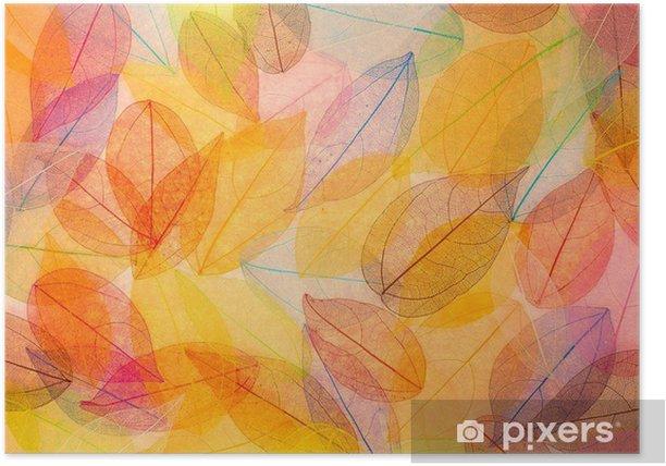Plakat Jesień - Tło i tekstura