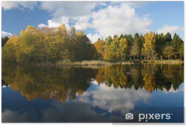 Plakat Jesienią odbicie - Pory roku