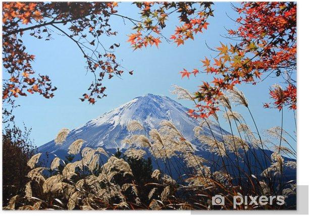 Plakat Jesienne liście i Mount Fuji - Tematy