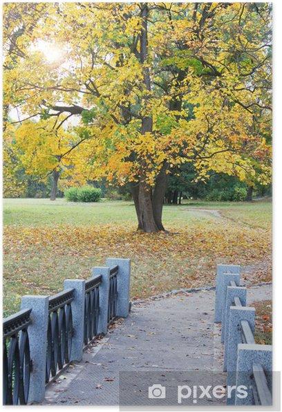 Plakat Jesienny widok. - Pory roku