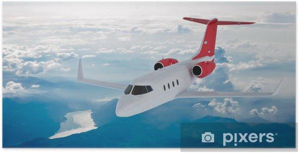 Plakat Jet w chmurach - Transport powietrzny