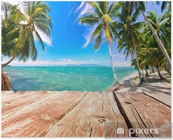 Plakát Jetty v přední části Karibského vysněné pláže :) - Voda