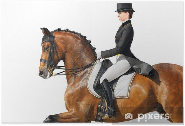 Plakát Jezdecký sport - drezura - Individuální sporty