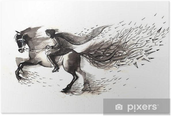 Plakat Jeździec - Tematy
