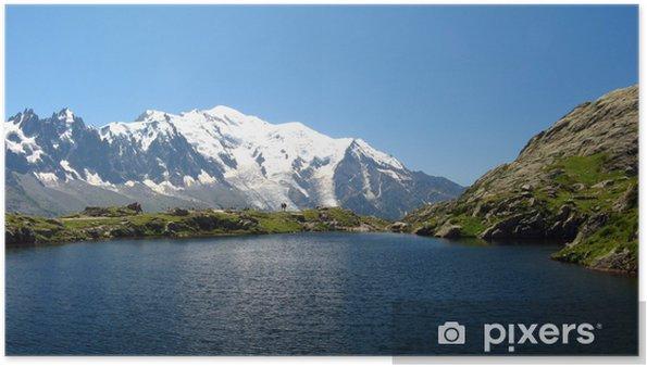 Plakat Jezioro Cheserys i białe Góra - Europa