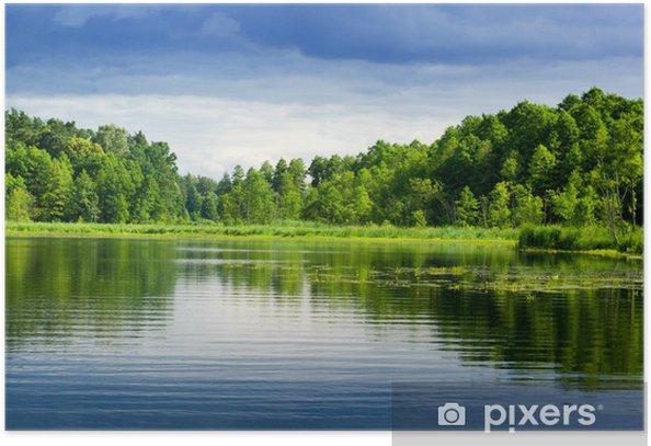 Plakat Jezioro i las. - Tematy