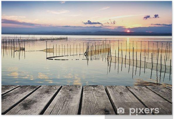 Plakat Jezioro światła i kolorów - Wakacje