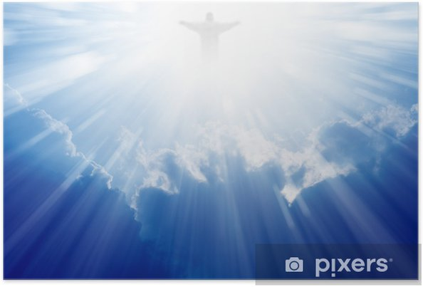 Plakat Jezus Chrystus jest w niebie - Religie