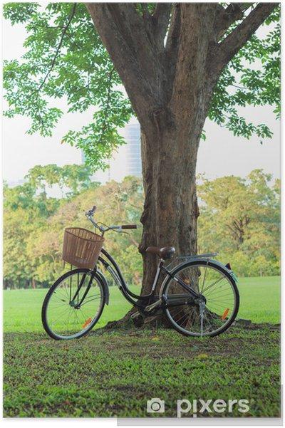 Plakát Jízdních kol na zelené trávě pod stromem - Individuální sporty