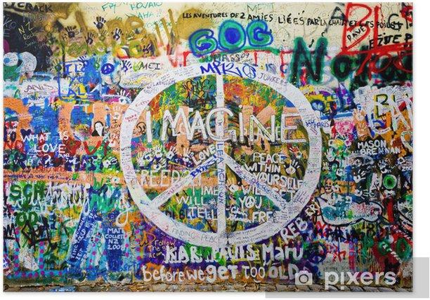 Plakat John Lennon ściana (Praga) - symbol pokoju (take 1) - Tematy