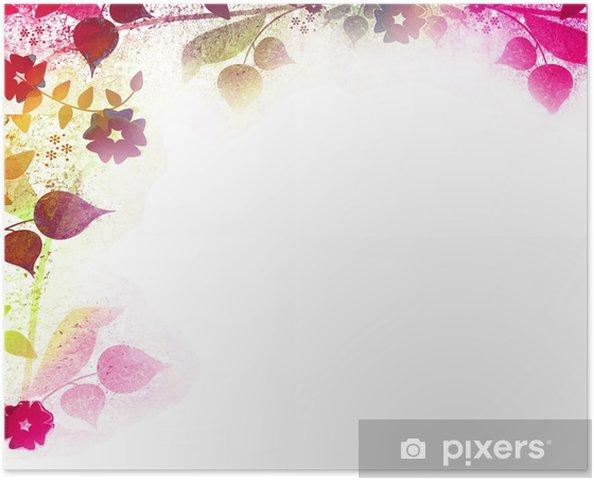 Plakat Joyful kwiatów tle retro - Tła