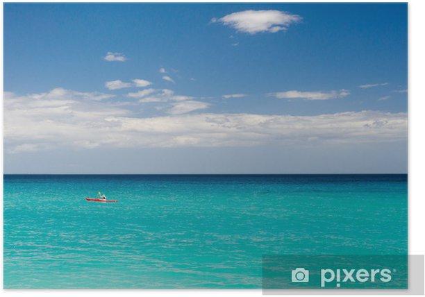 Plakat Kajak na Cala Luna, Zatoce Orosei, Sardynia (Włochy) - Europa