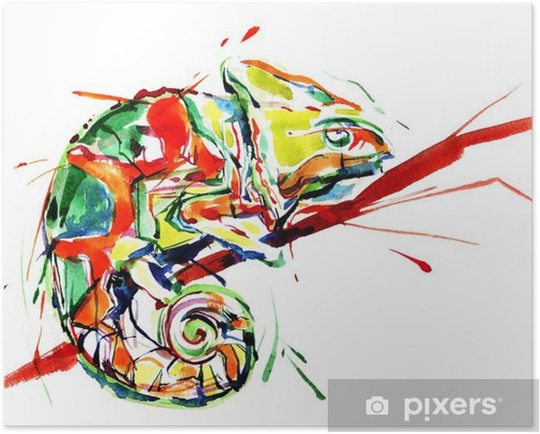 Plakat Kameleon - Nauka i natura