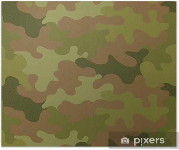 Plakat Kamuflaż bezszwowe tło wektor wzór - Tła