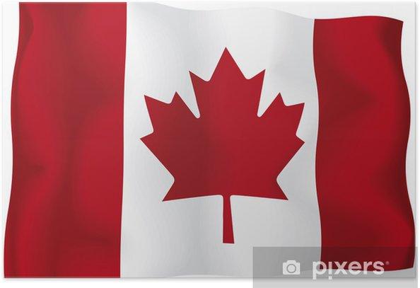 Plakat Kanada - Kanadyjska flaga - Tematy