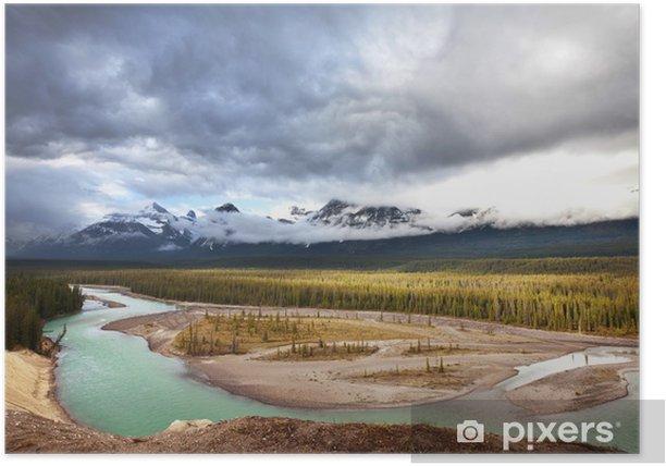 Plakat Kanadyjskich górach - Natura i dzicz