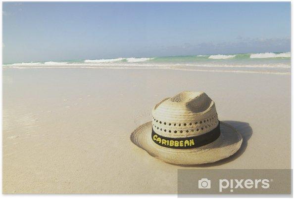 Plakat Kapelusz na plaży - Wakacje