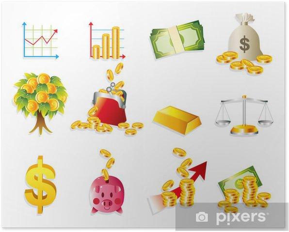 Plakát Karikatura Finance - Hry