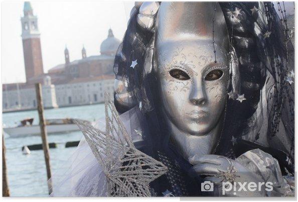 Plakat Karnawał w Wenecji Maska stwarzających na placu San Marco - Hobby i rozrywka