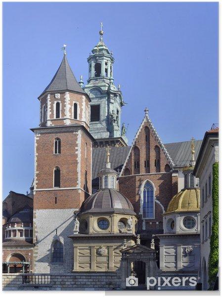 Plakat Katedra na Wawelu w Krakowie, Polska - Europa