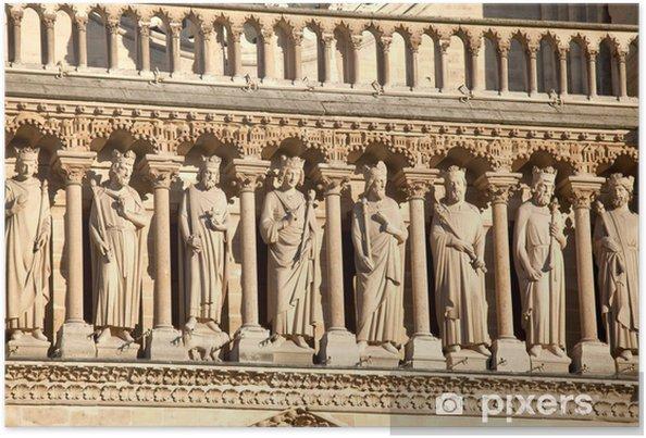 Plakat Katedra Notre Dame de Paris (1160-1345), Paryż, - Europa