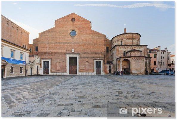 Plakat Katedra w Padwie z baptysterium, Włochy - Europa