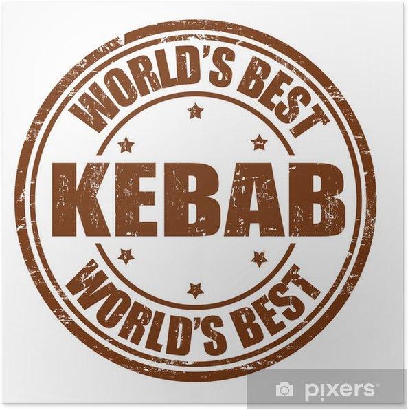 Plakát Kebab razítko - Značky a symboly