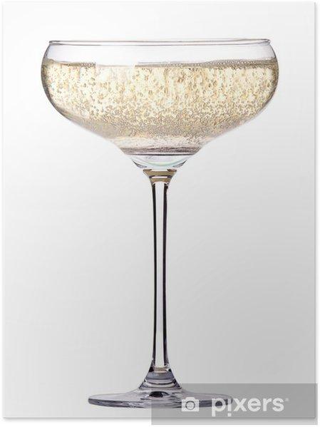 Plakat Kieliszek szampana wyizolowanych - Alkohol