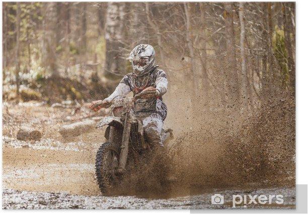 Plakat Kierowca brud motocross - Tematy