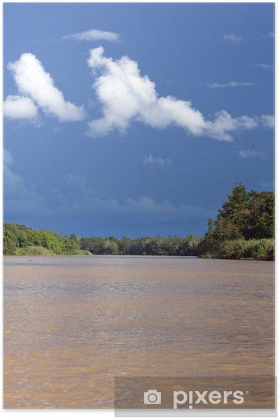 Plakát Kinabatangan River, Sabah. Borneo - Asie