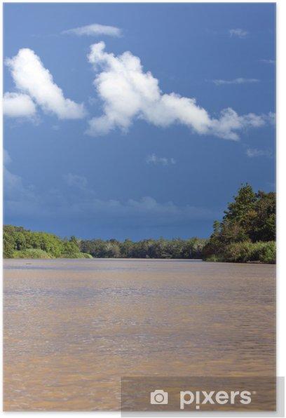 Plakat Kinabatangan Rzeka, Sabah. Borneo - Azja