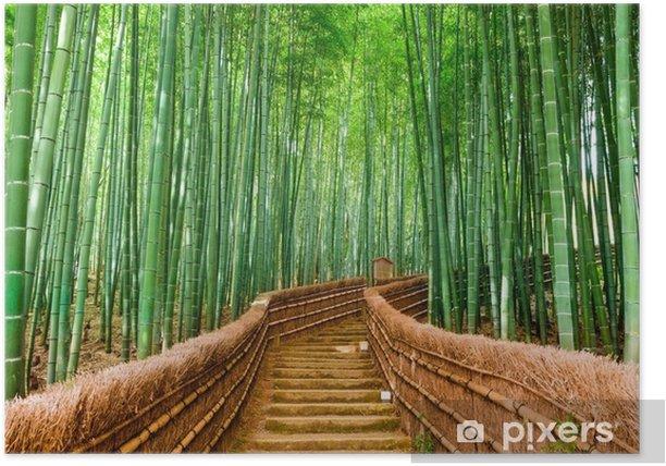 Plakat Kioto, japonia bambusowy las - Krajobrazy