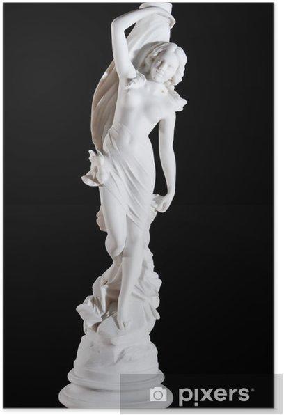 Plakát Klasická bílá mramorová socha Aprodite izolované na černém - Veřejné budovy