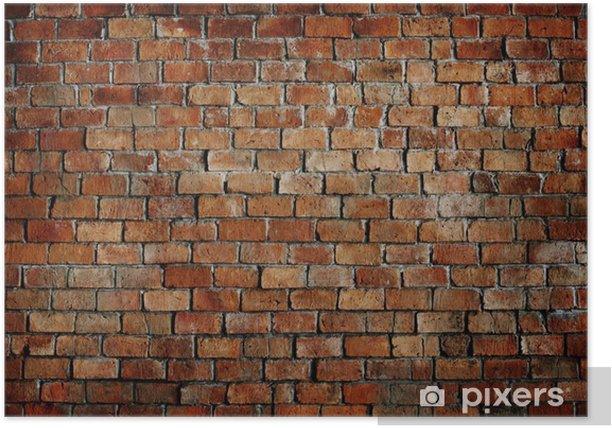 Plakat Klasyczny piękny murowany teksturą ściany - Tematy