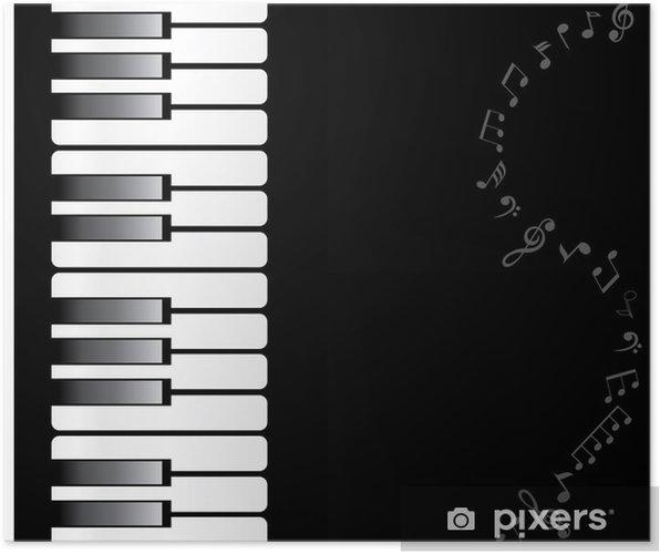 Plakat Klawiatury fortepianu Wektor - Rozrywka