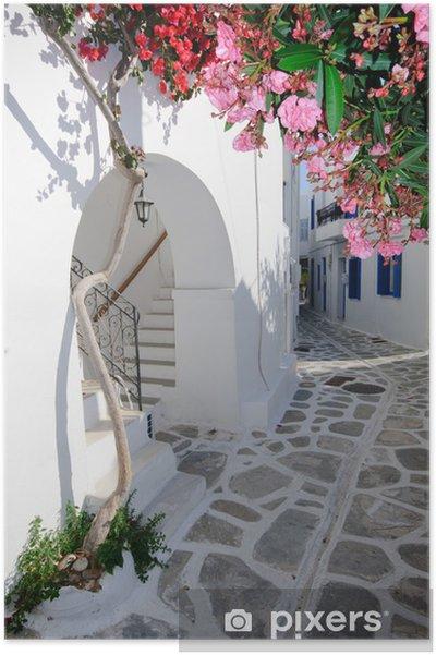 Plakát Klidná zpět ulice v malé tradiční řecké vesnice - Témata