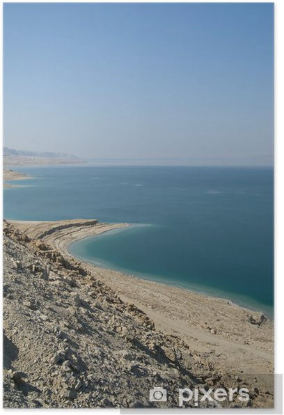 Plakát Klidný pohled Mrtvého moře - Střední Východ