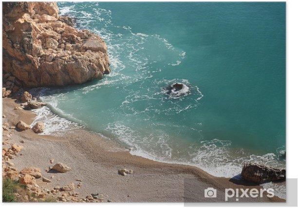Plakat Klify Cabo de la Nao (Alicante - Hiszpania) - Wakacje