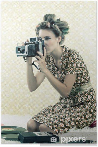 Plakat Kobieta biorąc Foto - Tematy