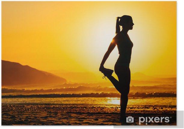 Plakat Kobieta wykonywania na pięknej rano - Przeznaczenia