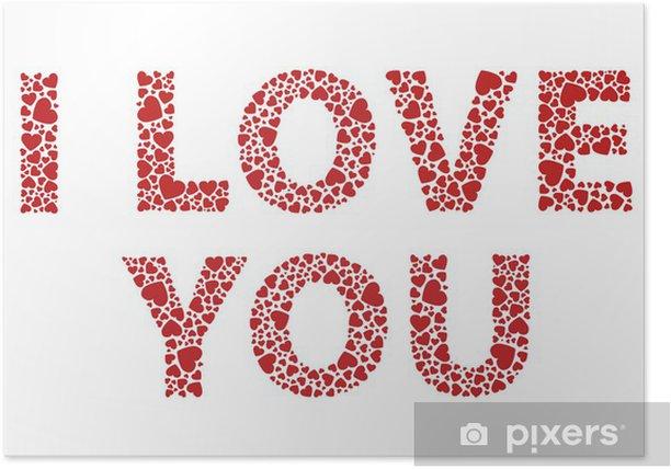 Plakat Kocham cię - Szczęście