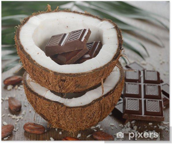 Plakat Kokosowego i czekolada - Słodycze i desery