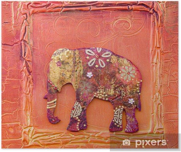 Plakát Koláž mit indischem Elefanten - Umění a tvorba