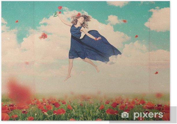 Plakat Kolaż sztuki z piękną kobietą - Kobiety