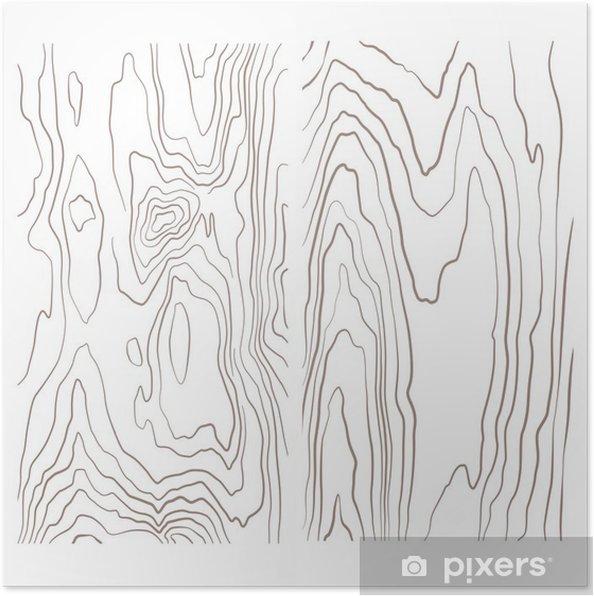 Plakat Kolekcja różnych monochromatycznych ilustracji tekstury drewna. - Zasoby graficzne