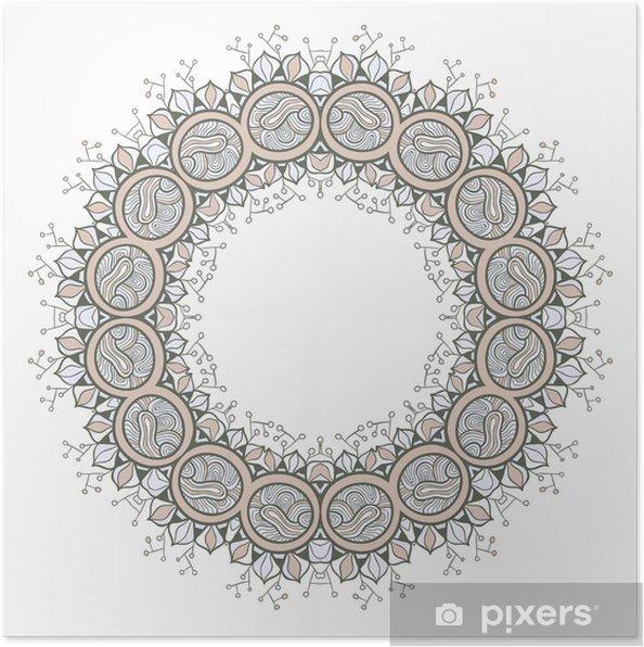 Plakat Koło Ozdobne Koronki Okrągły