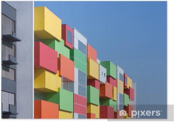 Plakat Kolorowa fasada domu - Przemysł ciężki