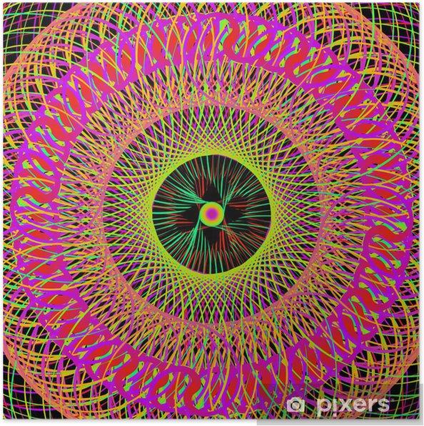 Plakat Kolorowe abstrakcyjne tło psychodeliczny sztuki. wektor illustratio - Tematy