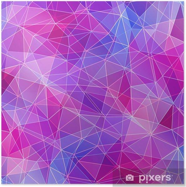 Plakat Kolorowe diamentowe tekstury, abstrakcyjne tło. - Zasoby graficzne